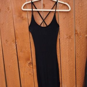 Basic Dress with thigh Open Slit